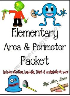 Elementary Area and Perimeter Packet (JAM-PACKED!) by jen rucker