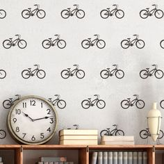 Vinilos Decorativos: Kit de 9 vinilos de Bicicletas clásicas #teleadhesivo #vinilosdecorativos #decoracion #patrones #mosaico #bici #bicicleta