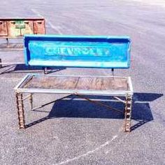 Chevy Chevrolet Truck Tailgate Bench For Sale By Recycled Salvage Design