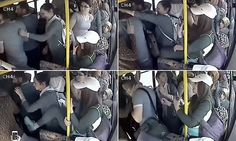 Moment man gets a slap after flashing his genitals on bus