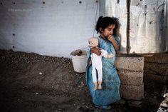 Kurdish refugee girl inside Domiz Syrian #refugee camp, Kurdistan - #Iraq - © Christophe Stramba-Badiali #narenjtree