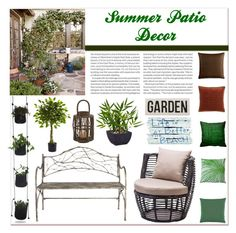 """""""Summer Patio Decor"""" by sparklekittygirl ❤ liked on Polyvore featuring interior, interiors, interior design, дом, home decor, interior decorating, OKA, Nearly Natural, Zuo и Hotel Collection"""