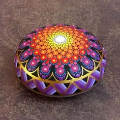 All my mandala stones are hand painted on only the roundest natural stones I can find, each protected with two coats of matt vanish. The smooth surface of these stones is an ideal surface to paint on, and I can think of no better subject than beautiful, colorful mandalas. This round mandala stone is 3 3/4 wide, 1 3/4 deep, and has almost 5 of painted surface area! As usual, there is no mass production. Some designs may look similar, but each stone is unique in its own way. They are...