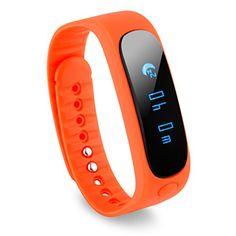 Diggro Sw19 - Smartwatch Bluetooth Pulsera Deportiva (Ip67 Impermeable, Bluetooth 4.0, Podómetro - http://complementoideal.com/producto/tienda-socios/diggro-sw19-smartwatch-bluetooth-pulsera-deportiva-ip67-impermeable-bluetooth-4-0-podmetro-gimnasia-salud-sueo-para-android-y-ios-smartphone-naranja/