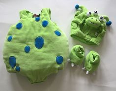 Infant Monster Costume 0 - 6 Months Green The Children's Place Halloween #TheChildrensPlace #CompleteCostume