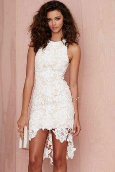 damenkleider weißes kleid kurz spitzenkleider
