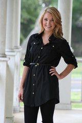 Black Shirt Dress  Hazelandolive.com