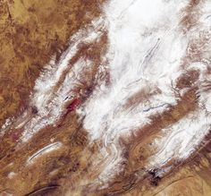 The Copernicus Sentinel-2 satellite photographed a rare snowfall in northwest Algeria at the Sahara Desert's edge on Jan. 7, 2018.