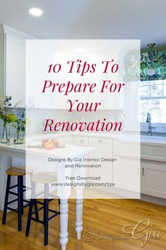 10 Tips To Prepare for your Renovation by Interior Designer and Renovator Gia Milazzo Smith. design tips, Interior Design And Build, Beautiful Kitchens, Bathrooms, Home Decor, Blog, Free, Decoration Home, Bathroom, Room Decor