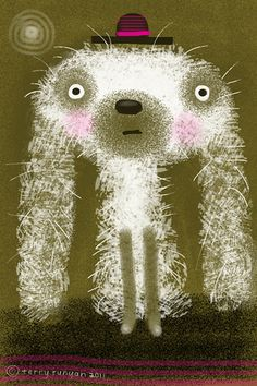 """dog  (see """"Artist-Terry Runyan"""" board for more works by this illustrator)"""