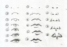 Drawing eyes, mouths & noses