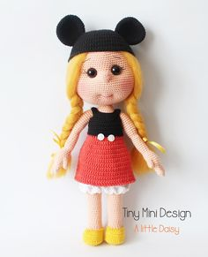 Mickey Mouse Kostümlü Daisy- Amigurumi Mickey Mouse Costume Daisy Doll | Tiny Mini Design