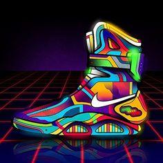 Nike Mag by Van Orton Design Zapatillas Jordan Retro, Nike Air Mag, Futuristic Shoes, Sneakers Wallpaper, Sneaker Art, Sneaker Boots, Expensive Shoes, Jordan Outfits, Sneaker Magazine