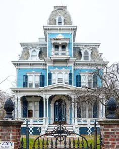 ere's a pretty Victorian house in New Jersey. Victorian Architecture, Beautiful Architecture, Beautiful Buildings, Beautiful Homes, Roof Design, House Design, Sims, Victorian Style Homes, Victorian Era