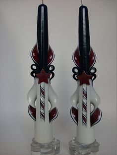 Americana or Patriotic Tapers  10 inch by ZeeCandlesPuyallup, $19.00