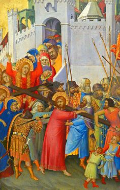 Simone Martini, Carrying of the Cross  SIMONE MARTINI, indicato talvolta anche come Simone Senese (Siena, 1284 circa – Avignone, 1344)   #TuscanyAgriturismoGiratola