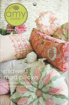 Midwest Mod Pillows by LavenderQuiltShop on Etsy