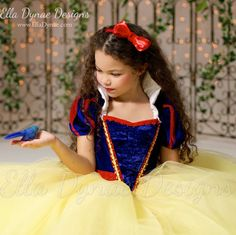Snow White Costume Princess Gown Tutu Dress by EllaDynae on Etsy
