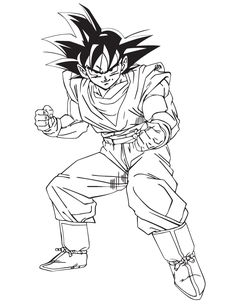 Dragon Ball Goku Coloring Page