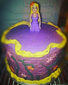 Repunzil theme Birthday cake  #minckeyandnicky