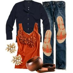 Orange and Navy, perfect to support my Timmy T.!
