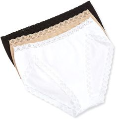 Natori Bliss French Cut Lace Trimmed Briefs, Black/Cafe/White http://www.movetivate.net/r.php?link=460 #fitness #sexy #hot #motivation #progress