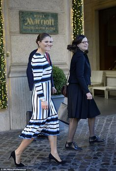 16 December 2016 - State Visit to Italy: Rome (day 2) - dress by Dolce & Gabbana (recycled), shoes by Gianvito Rossi