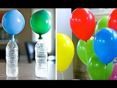 Simple Trick To Inflate Balloons Without Helium! Cd Crafts, Diy And Crafts, Arts And Crafts, Ballons Aufblasen, O Gas, The Balloon, For Your Party, Diy Party, Party Ideas