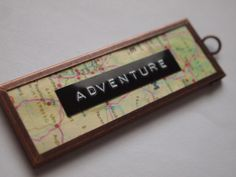 Adventure The another keychain of the package. I Can Do Anything, Creative Outlet, Map, Crafty, Adventure, Projects, Outlets, Heart, Glass