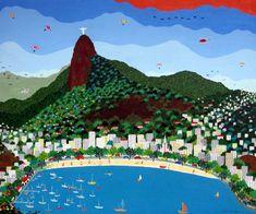 Enseada de Botafogo, s/d Lucia de Lima ( Brasil, contemporânea) acrílica sobre tela, 50 x 60 cm www.luciadelima.com