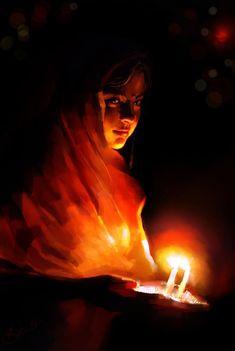 Happy Diwali - Digital Art by Kiran Kumar in Digital Paintings at touchtalent 21619