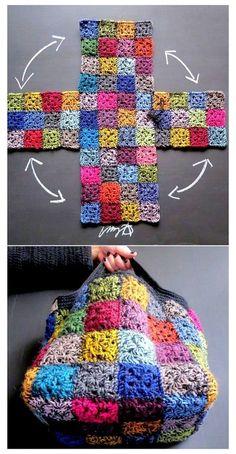 Crochet Motifs, Easy Crochet Patterns, Knit Or Crochet, Crochet Designs, Crochet Crafts, Crochet Stitches, Free Crochet, Knitting Patterns, Crochet Ideas