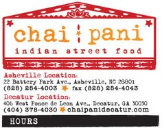 Chai Pani - Indian Street Food in Downtown Asheville, NC. If you haven't tried it, you should :)
