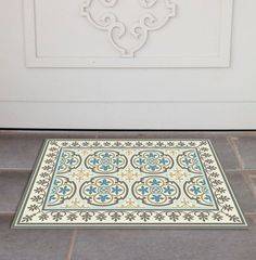 PVC Door Mat, Welcome Mat, Dog Rug, Tile rug, Pets mat, Comfort mat, Housewarming , 104