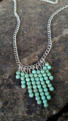 Turquoise Charm Chain Necklace