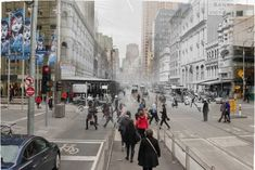 Melbourne transitions 1914-2014: Elizabeth Street Photo: Elizabeth Street looking south towards Flinders Street Railway Station from Bourke Street.