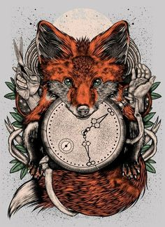 fox clock drawing