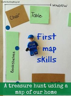 Map reading for kids - make a map of your home or room