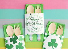 Free Printable St. Patrick's Day Napkin Wraps