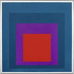 Josef Albers 1888 - 1976 HOMAGE TO THE SQUARE: TEMPERATE signed with the artist's monogram and dated signed, titled, dated 1957 and variously inscribed on the reverse, oil on masonite Geometric Art, Art Block, Modern Art Movements, Daily Art, Art Movement, Abstract, Josef Albers, Contemporary Art, Modern Art Abstract