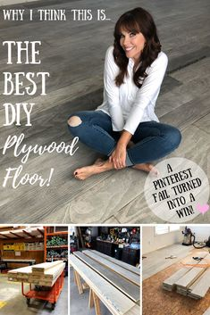 plywood flooring The Best DIY Plywood Floor