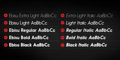 Cool Font: Ebisu Type Family by Thinkdust , via Behance