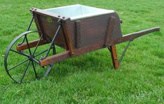 Amish Medium Size Wooden Wheelbarrow