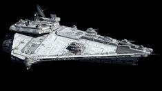 Vigil-class Star Corvette, by Fractalsponge (Ansel Hsiao) Star Wars Planets, Star Wars Ships, Star Wars Concept Art, Star Wars Fan Art, Star Wars Spaceships, Spaceship Art, Sci Fi Ships, Star War 3, Star Destroyer