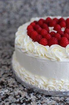 Lemon cake with raspberry filling... Birthday cake perhaps?
