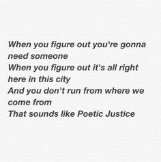 Kendrick Lamar lyrics Poetic Justice drake quotes
