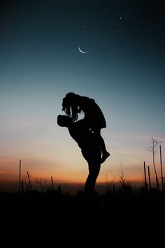 Silhouette of Man Lifting Woman · Free Stock Photo Couple Wallpaper, Romantic Pictures, Ulzzang Couple, Tumblr Wallpaper, Moon Art, Couple Pictures, Couple Dps, Free Stock Photos, Free Photos