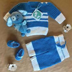 Handmade crochet newborn boy set! #handmade #crochet #newborn #clothes #boy #baby