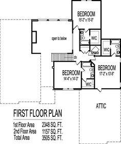 2 Story 4 Bedroom House Plans