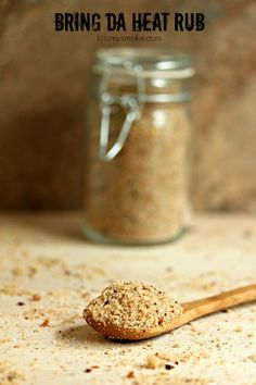 Bring Da Heat Rub----One of my favourite rubs for pork. This one uses brown sugar which gives your food a nice bark. It has lots of spices that have a nice heat and work well together. Rub Recipes, Grilling Recipes, Cooking Recipes, Easy Recipes, Easy Meals, Spice Rub, Spice Mixes, Spice Blends, Meat Rubs